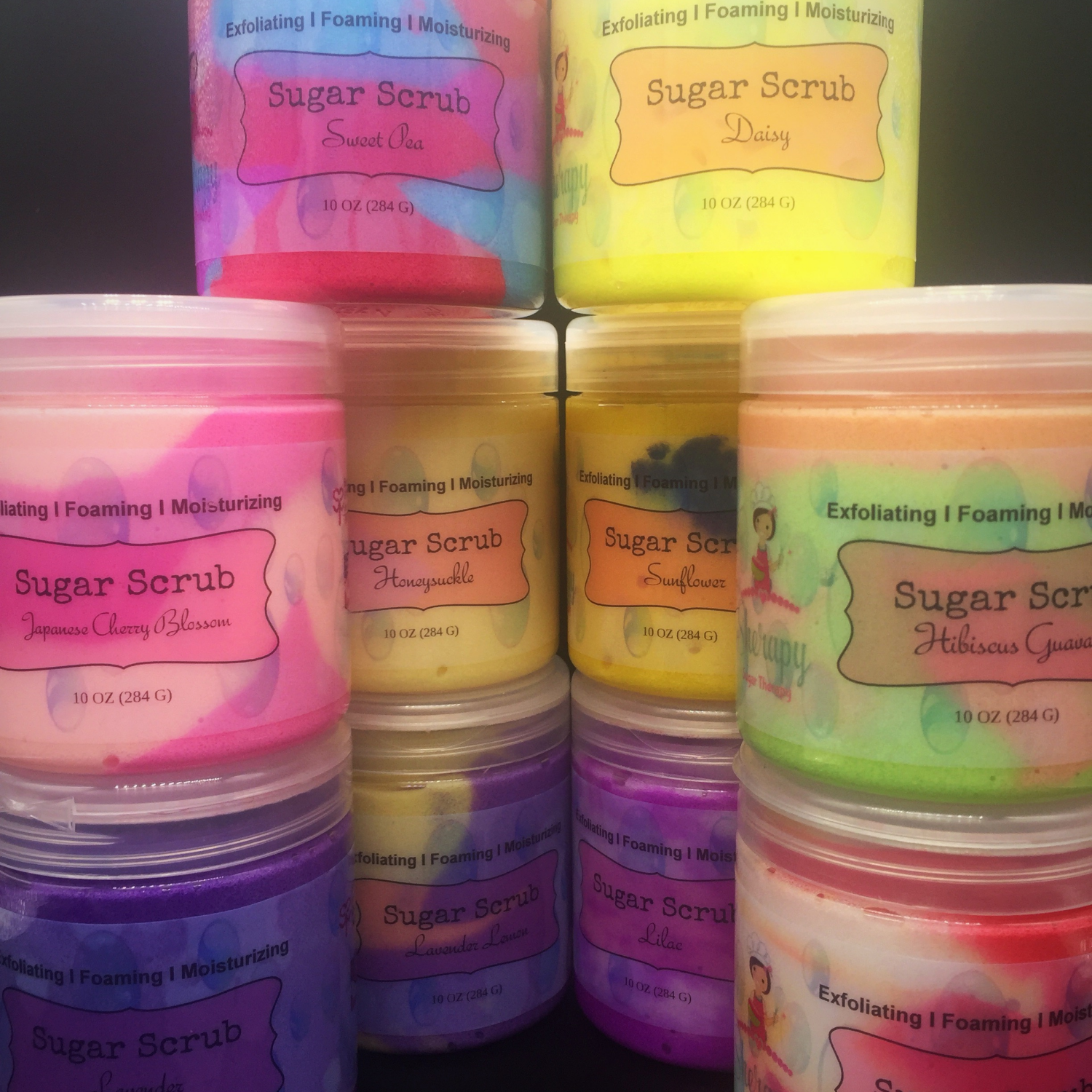 Foaming Sugar Scrub - Florals