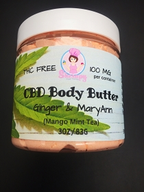 Body Butter with Hemp Extract and Essential Oils